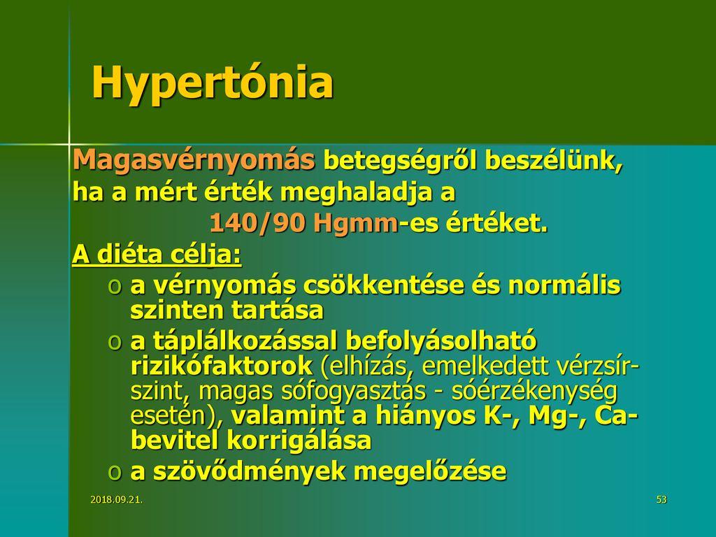 menü hipertónia és elhízás esetén