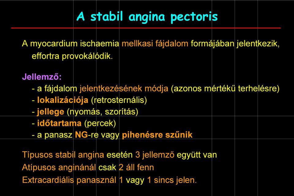 magas vérnyomás angina pectoris ischaemiás szívbetegség