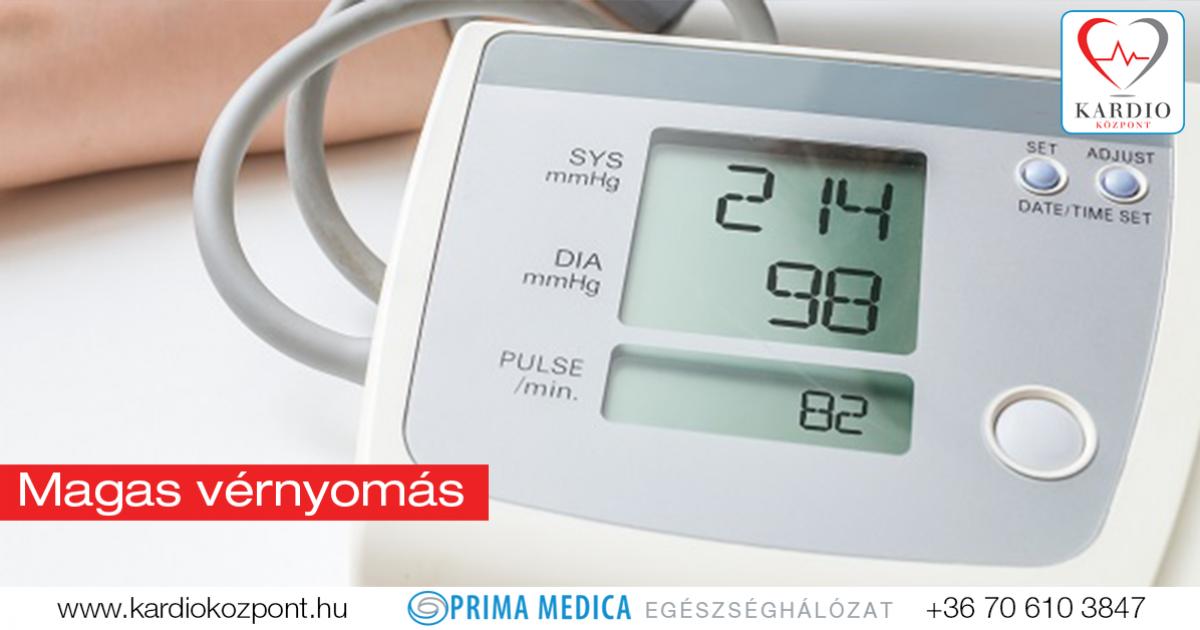 magas vérnyomás diagnosztizálásakor a szív ütése magas vérnyomásban