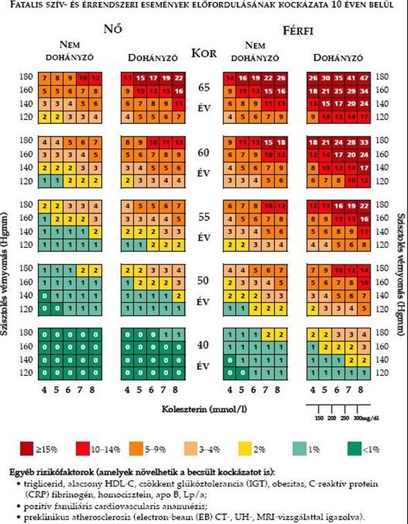 Itt a nagy vérnyomás táblázat! Megmutatja, mennyi az ideális vérnyomás a korod szerint
