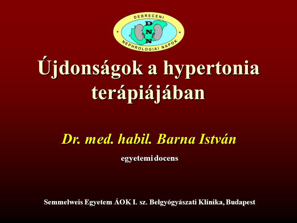 előadások a hipertónia terápiájáról a magas vérnyomás elleni gyógyszer