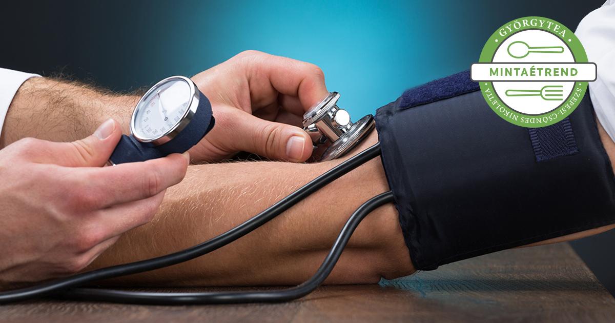 menü egy hétig magas vérnyomás esetén