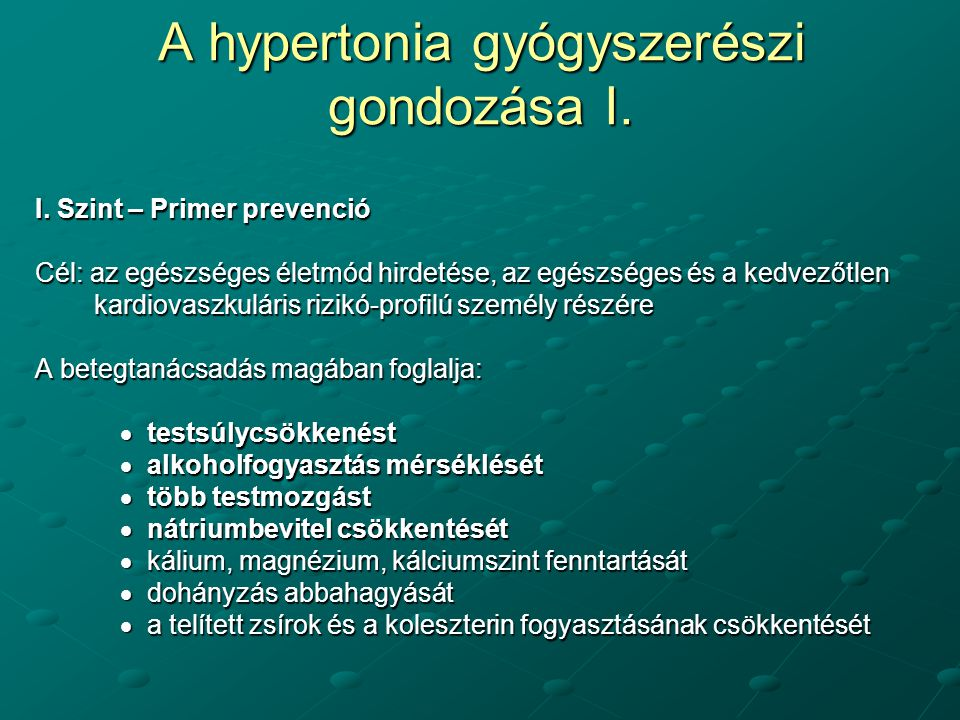 mechanikus hipertónia tiazid diuretikumok magas vérnyomás esetén