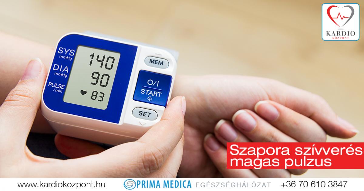ritka pulzus és magas vérnyomás